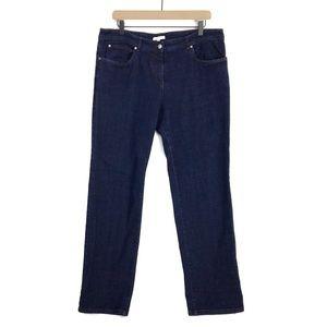 Eileen Fisher Soft Denim Straight Legging Jean L